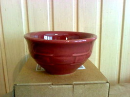 Longaberger Woven Traditions Pottery Dessert Bowl in PAPRIKA!- USA! - $12.74