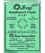 "Q-Snaps 6"" x 6"" frame cross stitch needlework - $11.25"