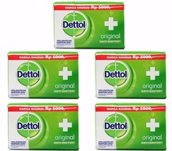 5 X Dettol ORIGINAL Anti-Bacterial Hygiene Hand and Body Bar Soap 105g /... - $12.49