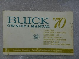 Buick Lesabre Electra Wildcat Estate Wagon 1970 Owners Manual 14685 - $19.75