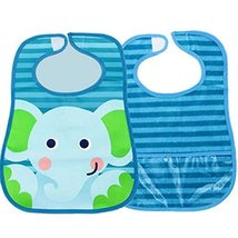Waterproof Baby Burp Cloths Infant Dribbler Nest Solutions Bibs(Elephant)