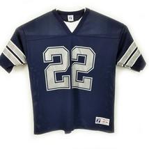 Vintage 90s NFL Emmit Smith Dallas Cowboys Logo 7 Football Large Jersey Mesh - $37.10