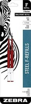 Zebra F-Series Ballpoint Stainless Steel Pen Refill, Fine Point, 0.7mm, ... - $11.95