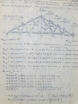 Vtg 1960s Auburn Engineering Project Notes Notebook Vernon Royal Line Binder image 5