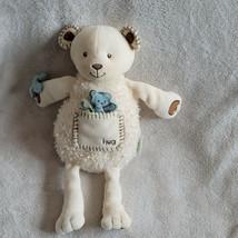 Eden Baby Cream Teddy Bear Plush Hug Pocket Blue Stuffed Lovey - $98.99