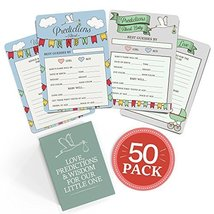 Baby Shower Advice + Prediction Cards. 50 Pack. Games & wishes for baby.... - $10.44