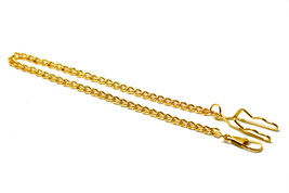 GOLD COLOR POCKET WATCH VEST CHAIN W CLIP 14 INCHES - $9.89
