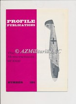 Aircraft Profile Number 184: The Messerschmitt Bf 109F - $9.75