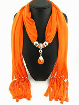 Charms Scarf jellery pendant Scarf Scarves lace Scarf image 9