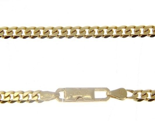 MASSIVE 18K GOLD GOURMETTE CUBAN CURB CHAIN 3.5 MM 20 IN. NECKLACE MADE IN ITALY