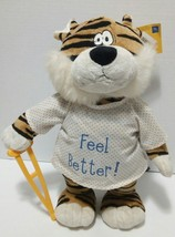 Petting Zoo Tiger Feel Better Dancing/singing Get Well Soon Plush Stuffe... - $27.88