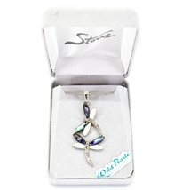 Storrs Wild Pearle Abalone Shell Kitten Cat Pendant w Silver Tone Necklace image 4