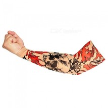 Outdoor Unisex Riding Sun-Proof Flame Pattern Tattoo Cuff (Single One) - $11.87 CAD