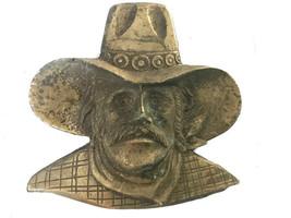 Vintage Large Cowboy Face Belt Buckle - Western - Outlaw - Bandit - Wild... - $32.00