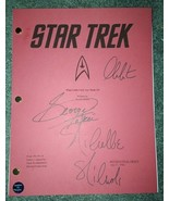 Star Trek Hand Signed Script COA William Shatner George Takei Nichelle N... - $300.00