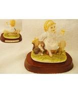 Leonardo Companions Girl Figurine on Wood Base - $18.69