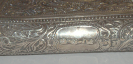 Judaica Vintage Silver Filigree Tzedakah Charity Box Book Design image 7