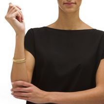 """Saduza-Link Bracelet in 18k Gold over Sterling Silver 7.25"""" image 3"""