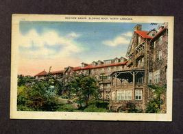 Vintage 1940s Linen Postcard 1941 Mayview Manor Blowing Rock NC Asheville - $6.99