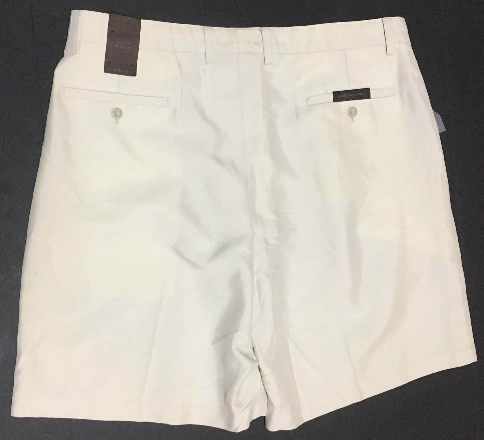 Tasso Elba Men's Golf Shorts NWT Sz 40 Beige Khaki