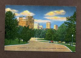 Vintage Linen Postcard 1940s 1946 Charlotte NC Dilworth Road Addison Apa... - $5.99