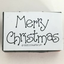 Stampin Up Merry Christmas Words Sentiment Foam Mounted Stamp Card Making Craft - $4.00