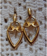 Gold Tone Dangle Earrings Pierced posts - $4.00