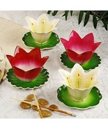 I. Godinger Garden of Eden Floral Bowl and Saucer Set 4  - $59.99