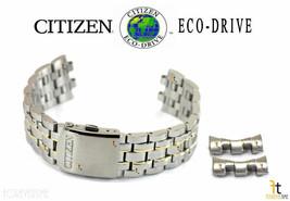 Citizen Eco-Drive H570-S074924 Edelstahl Zwei Ton Uhr Band Armband - $112.45