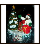Vintage Avon A Wonderful Countdown To Christmas Snowman - $24.99