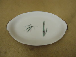 Sango Vintage Platter 10in Oval Japan Bamboo Knight China - $31.85