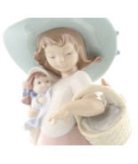 Nao by Lladro 02001902 IT'S A PICNIC! Porcelain Figurine Glased New  - $143.55