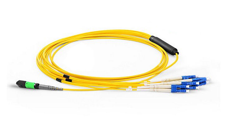 Primary image for RiteAV 8 Strand, OS2 - 9/125um Singlemode , MPO F- LC SX Fiber Optic Harness, 3M