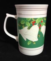 Mikasa Bone China 12 oz Tall Cappuccino Christmas Mug Jingle Bells Pattern  (L) - $14.65