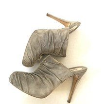 """Brian Atwood Shoes Mules Heels 4.5""""  Suede Grey Size 7.5 - $20.00"""