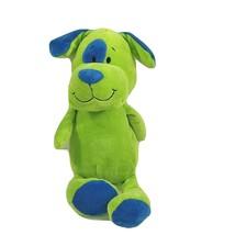Beverly Hills Teddy Bear Co Stuffed Plush Dog Puppy Rattle Toy Green All... - $14.84