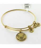 Alex and Ani US Air Force EWB Expandable Bracelet Rafaelian Gold NWT Car... - $26.67
