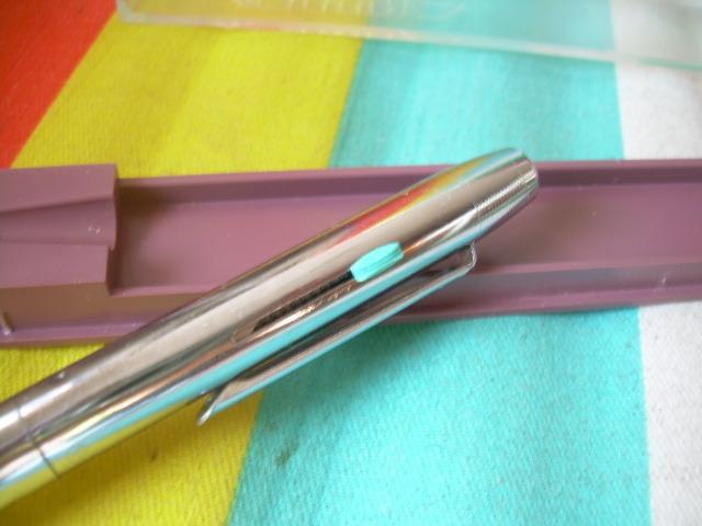 Vintage Soviet  Russian USSR 2 Color Automatic Ball Pen Rare About 1980 NOS