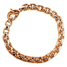 Extra Large Rounded Box Links Bracelet in 14K Pink, Rose Gold - $6,300.00