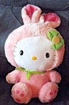 "Hello Kitty Plush with Pink Bunny Suit Fluffy Green Bow 16"" - $18.69"