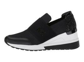 Michael Kors Women's Felix Trainer Slip On Casual Wedge Black Sneakers 9M image 3
