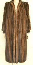 France Olivia mink fur coat FR 44 full length mahogany chic sophisticate brown image 1