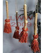 4 Samhain Brown bristled Broom/ Besom ornaments - $8.99