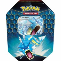 Pokemon Hidden Fates Gyarados Tin 4 Booster Packs + Promo Card TCG  - $24.99