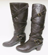 Ralph Lauren Boots Harness Belts Riding Fashion Pull on Brown Women's 6.5 M - $69.86