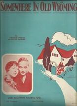 1930 Somewhere In Old Wyoming Western Ukulele Antique & Vintage Sheet Mu... - $7.95