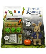 "Peter Rabbit Garden Set With Peter Action Figure 3.5"" - $13.99"