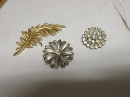 Costume  Jewelry , Vintage , Pins / Brooch . Mixed Lot of 3 , One Trifari - $60.00