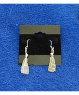 YELLOW SEA GLASS HANDCRAFTED EARRINGS - $11.57