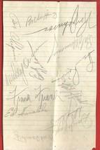 1940s  FRANKIE  FRISH + 12  M.L. BASEBALL PLAYERS  HAND SIGNED  AUTOGRAP... - $199.99